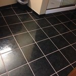 Beautiful tile flooring in bathrooms, this suite only had a very large shower.