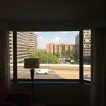 Junior suite bedroom looks out over highway