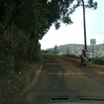 Nearly 2Km of bad pothole laden access road to the hotel