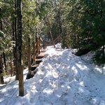 Snowy steps in May at Chute Kabir Kouba