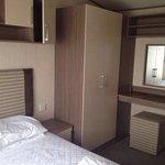 Bedroom of our lovely caravan
