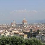 View from piazzale michelangelo (100 m. walk)
