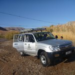 A very clean Land Cruiser after our drive through the river! With Sahara Atlas Tours.
