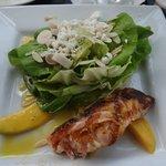 Bostonian Grilled Salmon with amazing vinaigrette