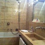 Big marble bathroom, plenty of storage space