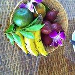 Fruta de boas vindas.