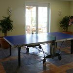 One of two table tennis tables.