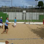 Beach Volleyball - next to the five-a-side pitch.