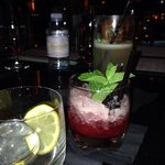 """Working our way down the drink menu. Highly recommend the drink """"what she's having"""". #vegas"""