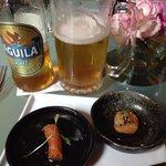 Entrada oferecida pelo Carmen, cerveja geladíssima! Aliás, a Aguila Light é ótima.