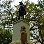 Oglethorpe statue from the side