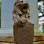 Close up of the lion at the base of the monument
