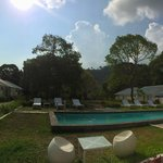 pano view of the boutique resort