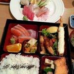Bento set & sashimi