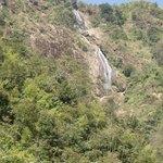 waterless waterfall in winter