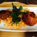One of the three meatballs courses