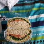 Sandwich del lugar de comidas que el hotel tenia promocion.