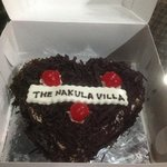 cake given to my inlaws who celebrated their 49th wedding anniversary whilst in Bali.