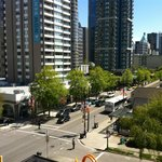 View from the room onto Robson