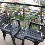 Armchairs on the balcony