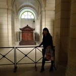 Visiting the tomb of the great Jean Jacques Rousseau