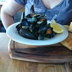 Mussels in the Lifeboat inn in St Ives