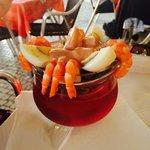 The prawn cocktail starter