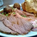 i never get beef on a carvery, but this is the best beef ever.