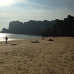 railay west,, beach infront of the hotel