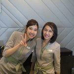 Receptionists with smiles