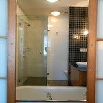 Bathroom viewed from bedroom