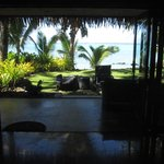 Inside Villa looking out to Muri Beach