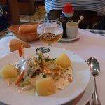 Waterzooi de volaille à la gantoise + bière La Léon