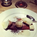 the choc and pear dessert