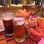 пиво с хлебом))