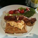 SAusage and waffle