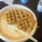 Waffles at breakfast