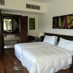 our superior room with twin beds