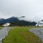 Helicopters awaiting take-off