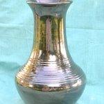 metallic gold vase