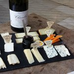 Our cheese plate & wine to end the tour