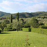 part of gardens and views and the countryside of, Castiglion Fiorentino Tuscany