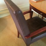 Old scuffed chairs - made hotel look / feel old
