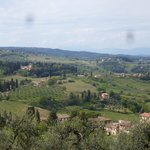 View from the fort in San Gimignano