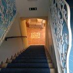 scale interne dell'albergo