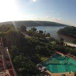 Maravillosa Vista Unión de los Ríos Iguazu y Parana