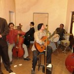 Musical band with wax statues