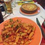 Pasta dish and lasagne
