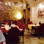 The beautiful traditional Maltese dining room.