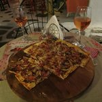 Our delicious tarte flambee at L'Ile Bistrot Cafe